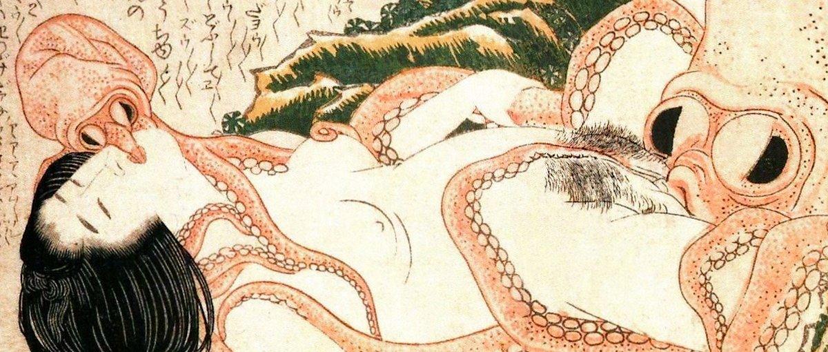 Plan à trois : une femme et deux poulpes