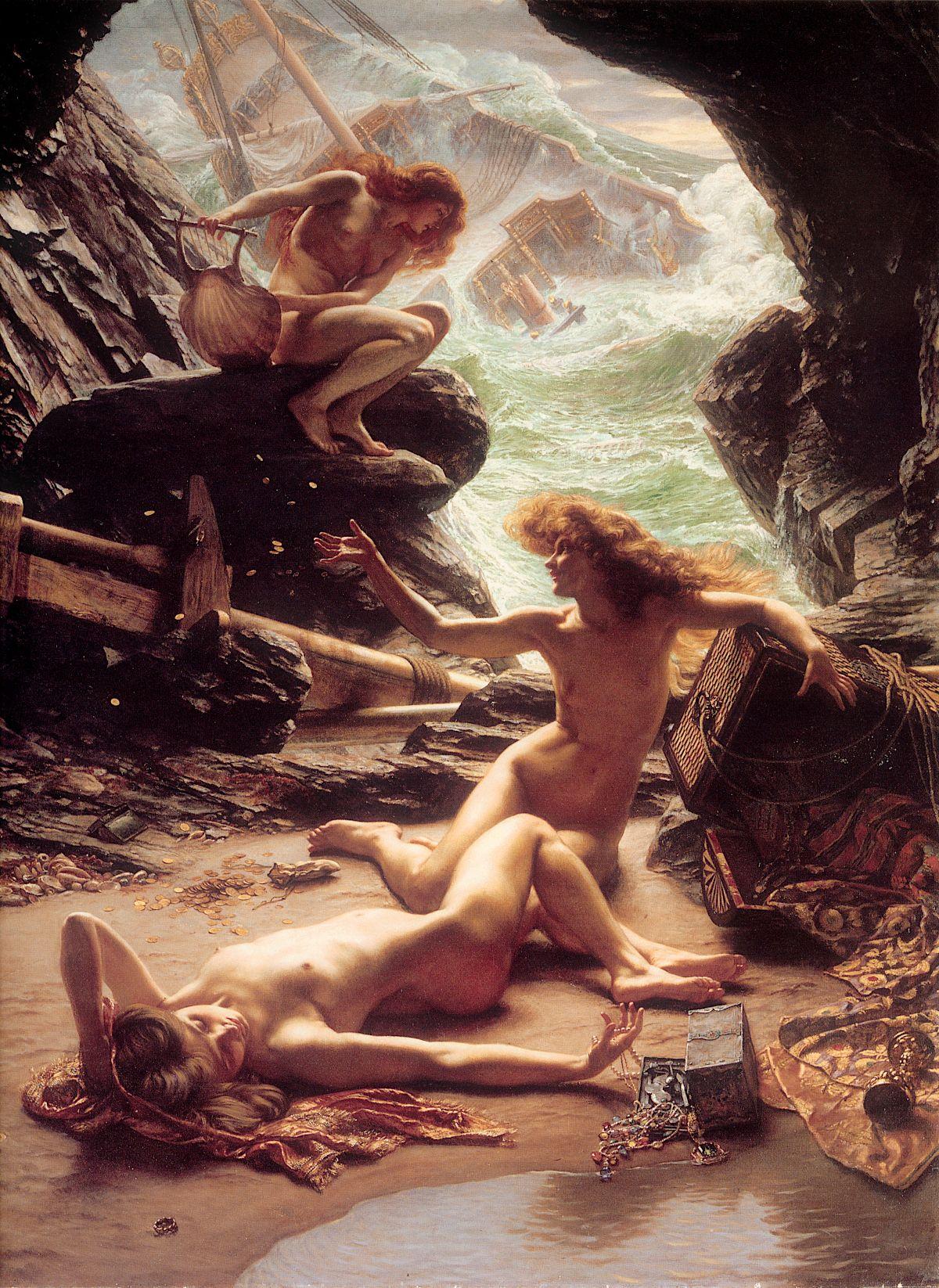 Les Nymphes contemplant un naufrage depuis leur grotte